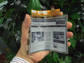 LG flexible e-Ink
