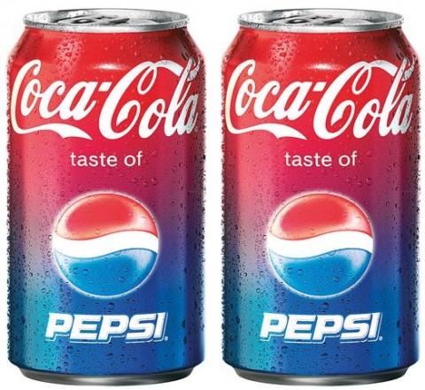 Cola taste of Pepsi