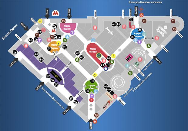 Планировка торгового центра